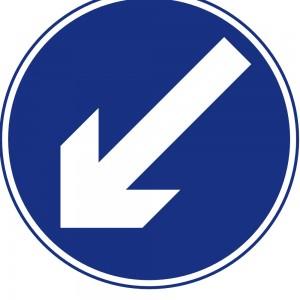 Keep Left - Irish road sign
