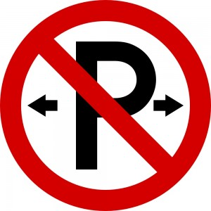No Parking - Irish road sign