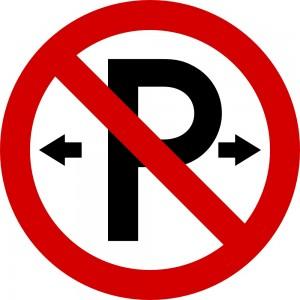 No Parking - Irish road sign