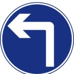 Turn left ahead