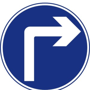 Turn right ahead