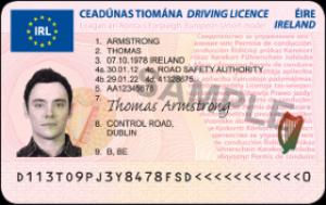 Irish Driving License